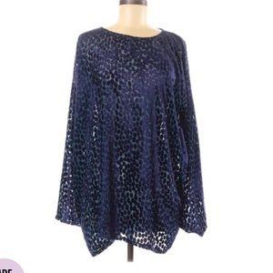 Junya Watanabe Velvet Ruffle Tunic Blouse Medium